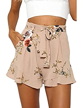 Ba Zha Hei Pantalones Cortos con Estampado de Verano de Falda Sexy para Mujer Women Sexy Skirt Summer Print Short...