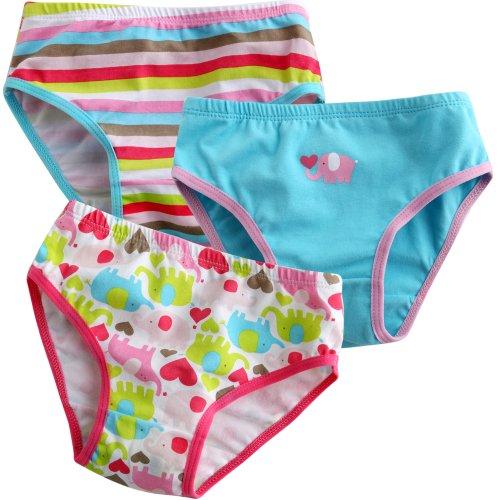 Vaenait Baby Kleinkind Kinder Madchen Unterwasche Slips 3-Pack Set Love Elephant M