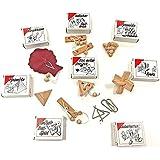 Knobelspiel Klassiker Sets - diverse Mitgebsel - Spiele einzeln verpackt incl Lösung - Geduldspiele Geschicklichkeitsspiele Puzzlespiel Knobelspiele Set Rätselspiele Adventskalender Inhalt