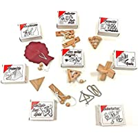 GICO Knobelspiel Klassiker Sets - diverse Mitgebsel - Spiele einzeln verpackt incl Lösung - Geduldspiele Geschicklichkeitsspiele Puzzlespiel Knobelspiele Set Rätselspiele Adventskalender Inhalt
