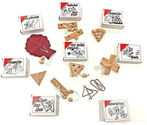 GICO 8 Knobelspiele Holzpuzzle
