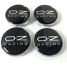 OZ Racing – Juego de 4 tapas para buje, 60 mm, efecto carbono,