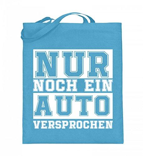 Hochwertiger Jutebeutel (mit langen Henkeln) - Nur noch ein Auto Hellblau