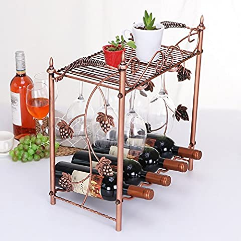 Vin Rouge Bouteille de Vin Rack Rack de vin la Simplicité moderne d'affichage, contient pas de verre de vin