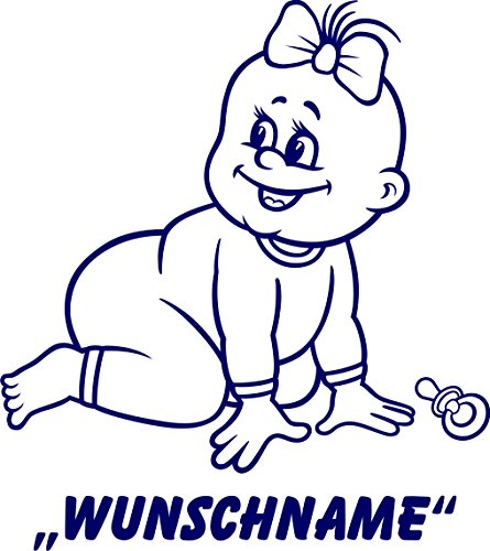 INDIGOS UG - Babystrampler / Strampler 076 mit Wunschname / Wunschtext schwarz 86/92