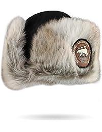 normani Damen und Herren Wintermütze Tschapka Uschanka Polarmütze mit Ohrenklappen