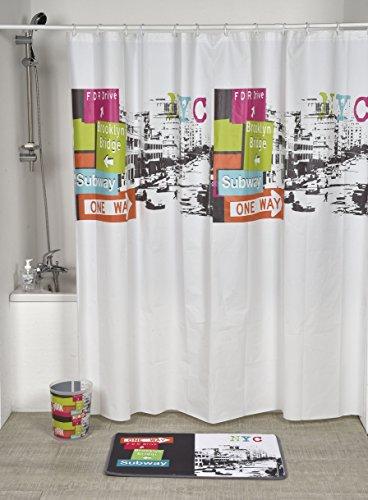 EVIDECO Atelier Loft PEVA Bad Bedruckt Vorhang für die Dusche, Mehrfarbig, 71L X 71W - Loft Vorhang