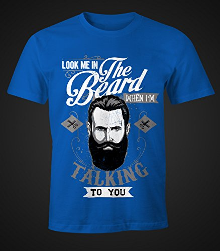 Herren T-Shirt - Look me in the beard - Moonworks Royal