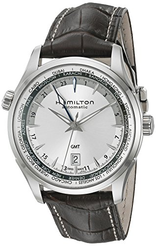 Hamilton Men's 42mm Brown Leather Band Steel Case Automatic Silver-Tone Dial Analog Watch H32605551