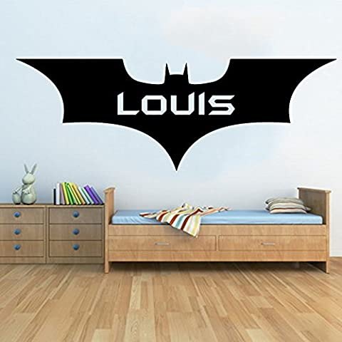 Personnalisée Grand New Batman sans Raclette. mur Art Sticker pour chambre d'enfant, Blanc, Medium - 110cm W x 39cm