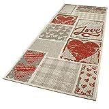 In- und Outdoor-Teppich All You Need is Love 200 x 80 cm Kunststoff für Innen und Außen