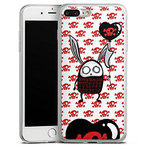 Apple iPhone 8 Slim Case Silikon Hülle Schutzhülle Hase Herz Bunny Silikon Slim Case transparent