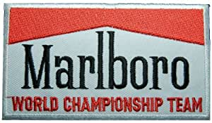Embroidered Ecusson brode Iron on patch Marlboro Embroidered Ecusson brode Iron on patch ferrari Patches sponsor racing patch Embroidered Iron on Patch Logo3