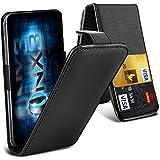 ONX3® (Black) ZTE Nubia Z7 Max Fall Universal-Luxuxart Folding PU-Leder Federklemmhalter Top-Schlag- Fall mit 2-Karten-Slot, nach oben und unten Kamera