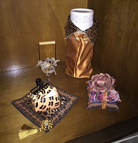 Set Geschenkidee arabischen Parfüm Attar Oil Spray 100ml Deodorant Damen mit Handtasche Beauty Case Original Korallen Dubai–Angebot Reißverschluss
