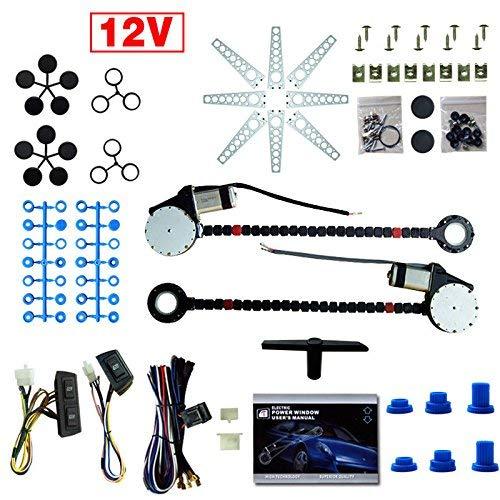 HYLH Coche eléctrico Camión eléctrico Elevalunas Regulador Kit de conversión Interruptores Universal...