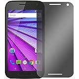 """Slabo protector de pantalla privacy Motorola Moto G (3ª Generación) protección contra las miradas """"View Protection"""" privacy MADE IN GERMANY - Negro"""
