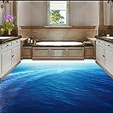 Ohcde Dheark Super Dick Custom 3D Pvc-Boden Wandbild Tapete Blau Endlosen Ozean Marine Foto Wandbild Zimmer Dekor Selbst