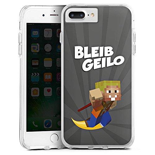 Apple iPhone X Silikon Hülle Case Schutzhülle LPmitKev Fanartikel Merchandise Bleib Geilo Grau Bumper Case transparent