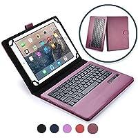Funda con teclado Samsung Galaxy Tab 4 10.1 LTE COOPER INFINITE EXECUTIVE Funda tipo carpeta 2 en 1, cuero, teclado Bluetooth inalámbrico, soporte + SM-T535 (Morado oscuro)