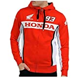 HONDA Sweat à Capuche Zippé officiel Team Marc Marquez 93 Moto gp (L)