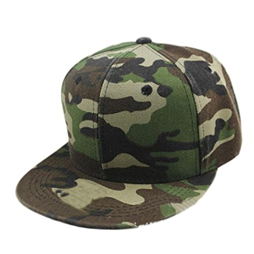 Gap Herren Grün (Transer® Camouflage Leinwand Baseball GAP, Fashion Jungen Mädchen Hip Hop Snapback flach Hat, grün)