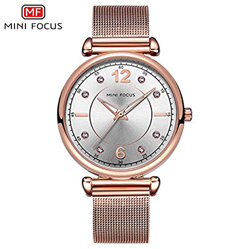 xisnhis schöne Uhren Mini - fokus / mf0177l Damen Quarz - Uhr - Strass Edelstahl weibliche Uhr