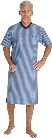 hajo Nachthemd Langarm 53325 602 blau gestreift Klima Komfort
