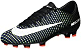 Nike Men's Mercurial Victory VI FG Soccer Cleat Black/White/Electric Green Size 12 M
