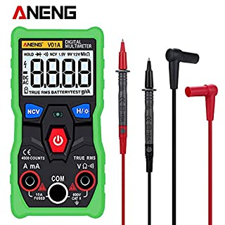 ANENG V01A Telt Digitale Multimeter Tester True-RMS intelligente NCV AC/DC Spanning Stroom Ohm Test Tool Digital Display - Green