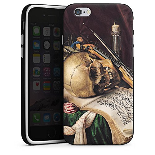 Apple iPhone 5 Housse étui coque protection Nature morte Vanitas Art Art Housse en silicone noir / blanc