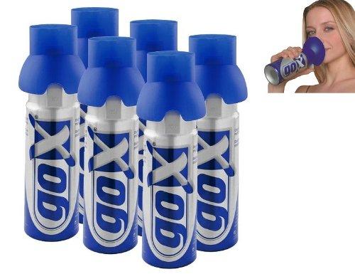 6er PACK Dosen GOX Sauerstoff pur 6 Liter - Booster Ihr Kapital Gesundheit - Marke.