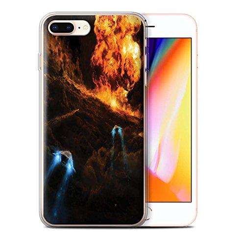 Offiziell Chris Cold Hülle / Gel TPU Case für Apple iPhone 8 Plus / Elektro-Sturm Muster / Fremden Welt Kosmos Kollektion Chaos Entfesselt