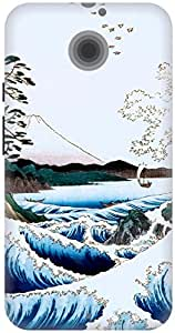 The Racoon Lean printed designer hard back mobile phone case cover for Moto X 2nd Gen. (The Sea at)