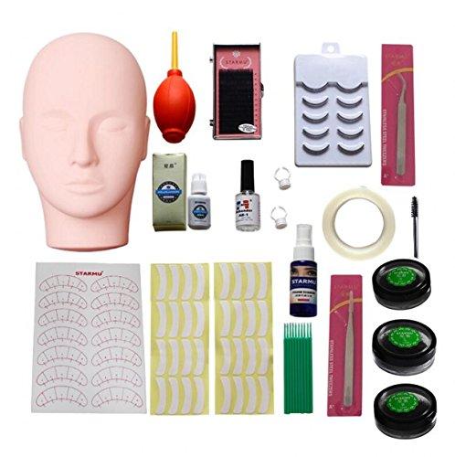 Training flach Head Make Up Eye Lashes Praxis Eyelash Extensions Kit Make-up Praxis Werkzeug ()