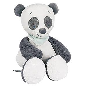 Nattou Peluche Panda Loulou,  Loulou, Lea e Hipólito, Compañero desde el nacimiento, Altura: 34 cm, Blanco/Gris oscuro