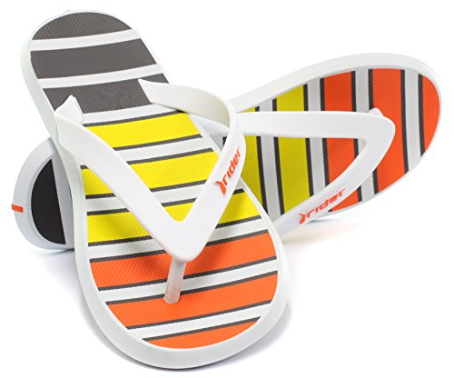 Rider Brasil R 1 Ink 2015 Herren Beach/Pool Flip Flops White