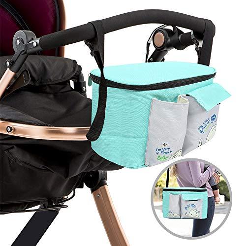 kidsidol Kinderwagen Organizer Tasche Multifunktional Baby Stroller Bag Umhängetasche Tasche Reisetasche klein Wickeltasche groß langlebig verstellbar für Fashion Eltern