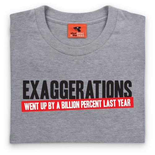 Exaggeration T-Shirt, Herren Grau Meliert