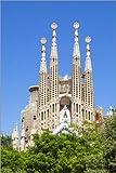 Poster 100 x 150 cm: La Sagrada Familia Kirche in Barcelona
