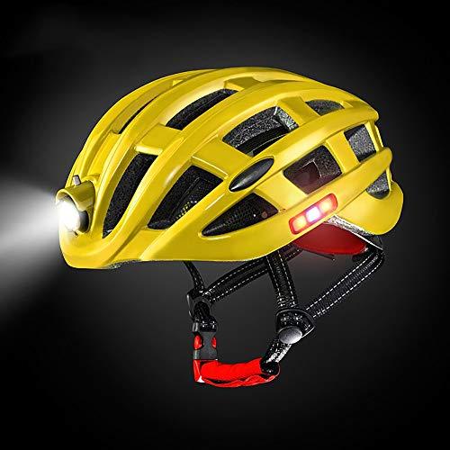 YAJAN-helmet Berg Fahrradhelm,CE-Zertifizierung mit Sicherheitslicht Einstellbare Mountainbike Zyklus Helme für Damen und Herren Einstellbare 49-59 cm -