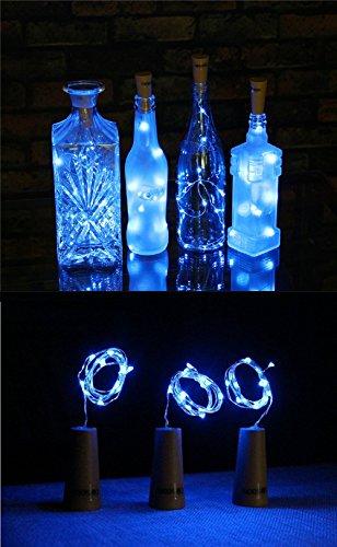 Flaschenlicht 3 Stück 30 inch 75 cm 15 LED Blue Lichter String Starry LED Lichter für Flasche DIY, Party, Dekor, Weihnachten, Halloween, Hochzeit oder Stimmung Lichter Solar-ballon-lichter
