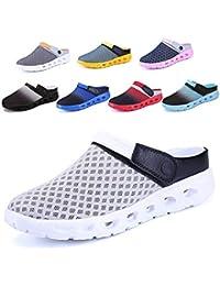 da919f672db CCZZ Zuecos de Verano para Mujer Hombre Antideslizante Respirable Zapatos  Zapatillas Sandalias Chanclas de Playa Ahueca
