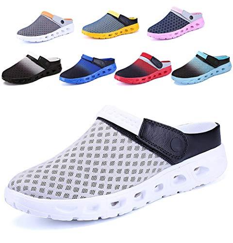 CCZZ Zuecos Para Mujer Hombre Respirable Zapatos Zapatillas