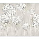 murando - Fototapete Blumen 350x256 cm - Vlies Tapete - Moderne Wanddeko - Design Tapete - Wandtapete - Wand Dekoration - Blume beige b-C-0008-a-b