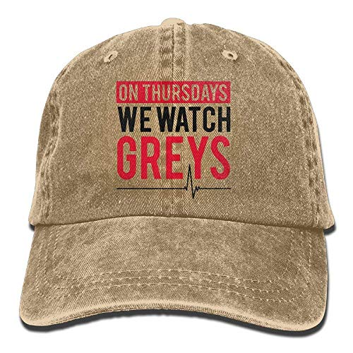 jinhua19 Hüte,Kappen Mützen Baseball Cap on Thursday We Watch Greys Women Golf Hats Adjustable Dad Hat