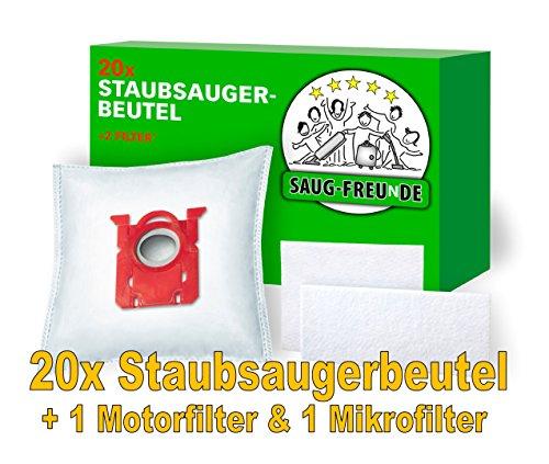 20 Staubsaugerbeutel + 2 Filter geeignet für PHILIPS S-Bag, FC8371/.. Performer Compact, FC8575/.. Performer Active, FC 9050...9099 Jewel, FC 9100...9149 Specialist, FC 9150... von SAUG-FREUnDE