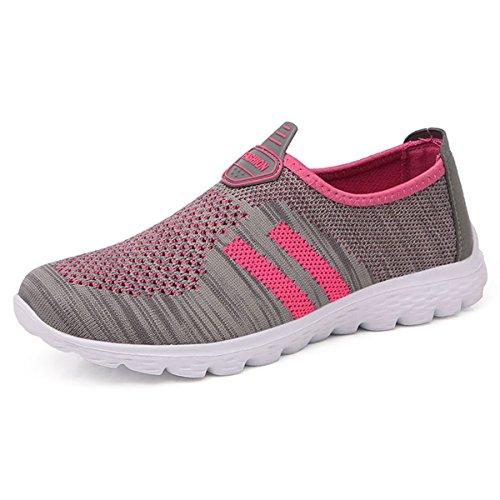 Damen-freizeitschuhe (JIANKE Herren Damen Leichte Freizeitschuhe Atmungsaktiv Turnschuhe Sportschuhe Bequem Outdoor Fitnessschuhe Sneaker(Pink,40))