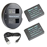 Newmowa Double USB Chargeur + 2 Remplacement Batteries LP-E12 pour Canon LP-E12 et Canon EOS M M2 M10 M50 M100 EOS 100D EOS Rebel...