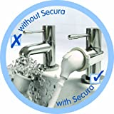 Croydex Removeable Push-Fit Secura Bath Shower Set, White